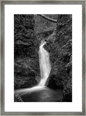 Indian Well Flows Bw Framed Print by Karol Livote