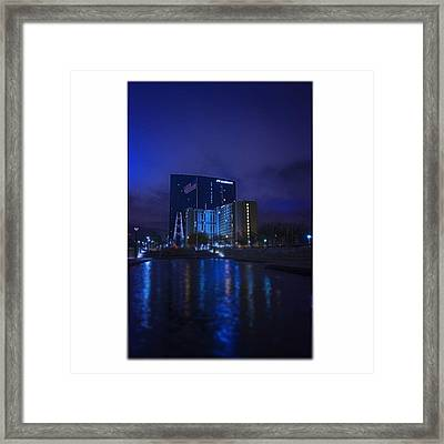 #indiana #indy #indianapolis #nap Town Framed Print by David Haskett