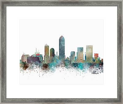 Indianapolis Indiana Skyline Framed Print by Bri B