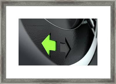 Indicator Dashboard Lights Framed Print by Allan Swart