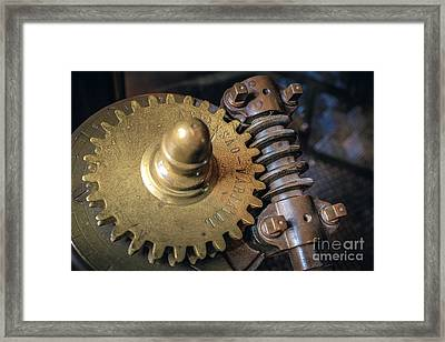 Industrial Gear Framed Print