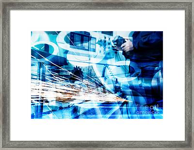 Industrial Technology Abstract Background Framed Print by Michal Bednarek