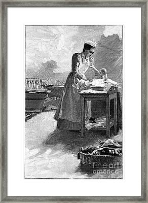 Infant Healthcare, Early 20th Century Framed Print by Spl