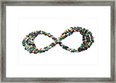 Infinity Symbol Colorful Balls Framed Print by Allan Swart
