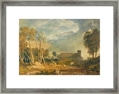 Ingleborough From Chapel-le-dale Framed Print by JMW Turner