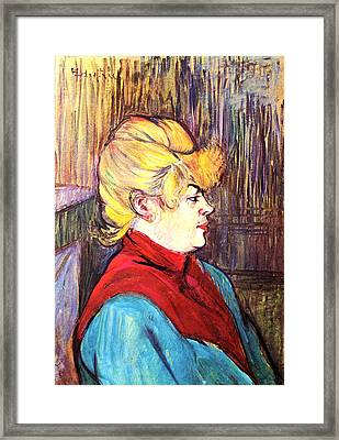 Inhabitant Of A Brothel Framed Print by Toulouse Lautrec