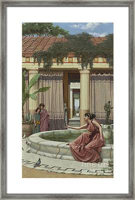 Innocent Amusements, 1891 Framed Print by John William Godward