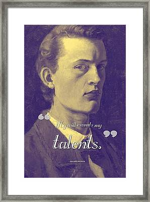 Inspirational Quotes - Edward Munch 12 Framed Print by Celestial Images