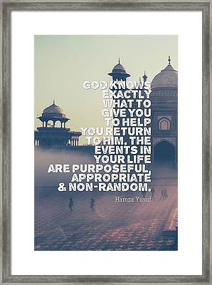 Inspirational Quotes - Spritual - 2 Framed Print
