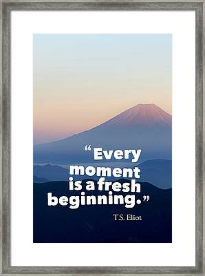 Inspirational Timeless Quotes - T.s. Eliot Framed Print
