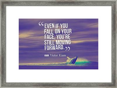 Inspirational Timeless Quotes - Victor Kiam Framed Print