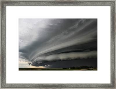 Intense Shelf Cloud Framed Print by Ryan Crouse