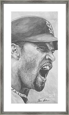 Intensity Pujols Framed Print by Tamir Barkan