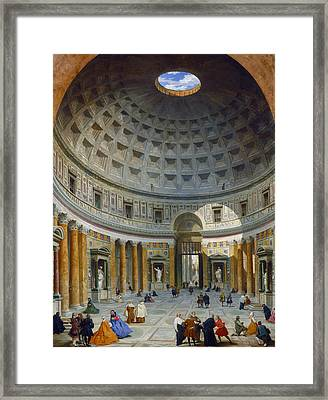 Interior Of The Pantheon, Rome Framed Print