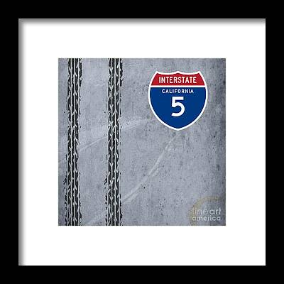 Interstate 5 Framed Prints