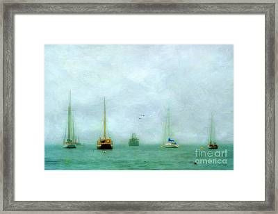 Into The Fog Framed Print by Darren Fisher