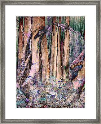 Into The Forest 13 Framed Print