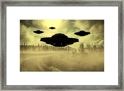 Invasion Earth By Raphael Terra Framed Print by Raphael Terra
