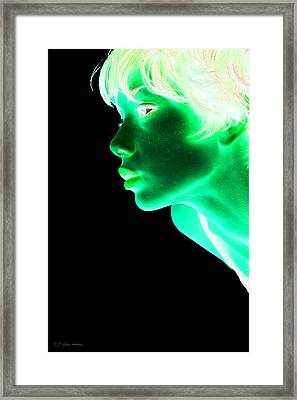 Inverted Realities - Green  Framed Print by Serge Averbukh