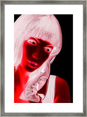Inverted Realities - Red  Framed Print by Serge Averbukh