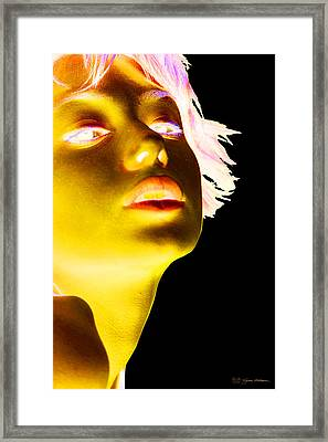 Inverted Realities - Yellow  Framed Print by Serge Averbukh
