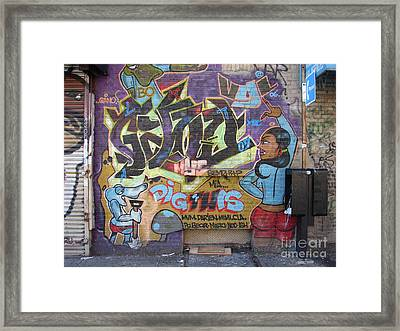 Framed Print featuring the photograph Inwood Graffiti  by Cole Thompson