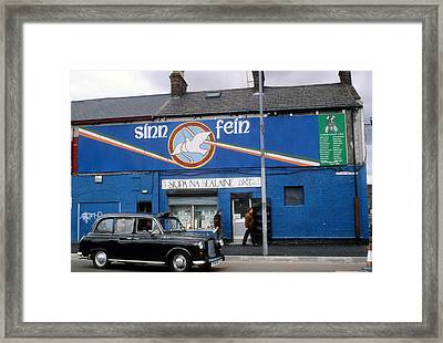 Ira Mural In Belfast In Northern Ireland Framed Print