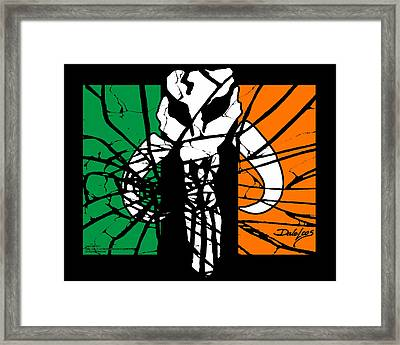 Irish Mandalorian Flag Framed Print