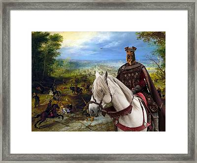 Irish Terrier Art Canvas Print Framed Print