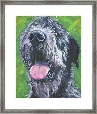 Irish Wolfhound Framed Print by Lee Ann Shepard