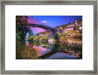 Iron Bridge 1779 Framed Print by Adrian Evans