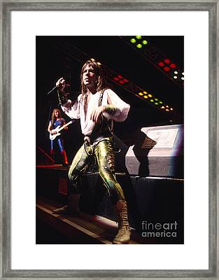 Iron Maiden 1987 Bruce Dickinson Framed Print by Chris Walter