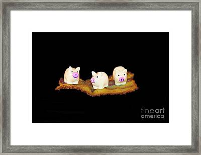 Ironic Pigs Framed Print