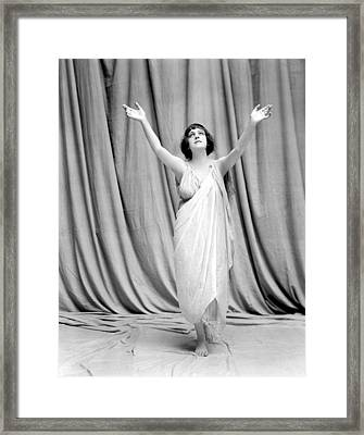 Isadora Duncan, Undated Framed Print by Everett