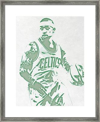 Isaiah Thomas Boston Celtics Pixel Art Framed Print by Joe Hamilton