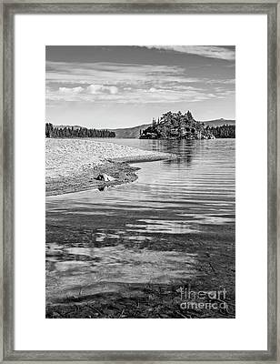Island In The Sky Framed Print by Jamie Pham