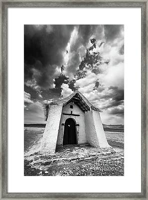 Isluga Church Framed Print by Olivier Steiner