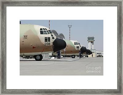 Israeli Air Force C-130 Karnaf Aircraft Framed Print