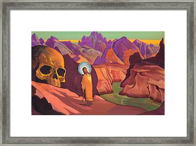 Issa And The Skull Of The Giant Framed Print