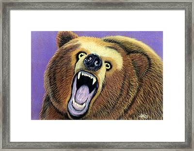 Framed Print featuring the pastel Issues by Jan Amiss