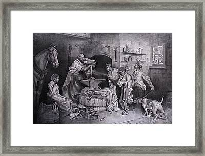 It Takes A Village Framed Print by Curtis James