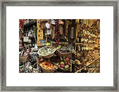 Italian Delicatessen Or Macelleria Framed Print