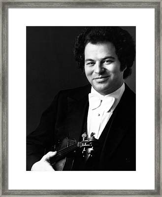 Itzhak Perlman, Ca. 1980s Framed Print