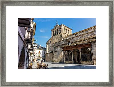 Jaca, Spain.  Romanesque Cathedral Framed Print by Ken Welsh