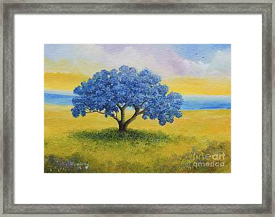 Flamboyant  Azul  The Original Is Sold Framed Print