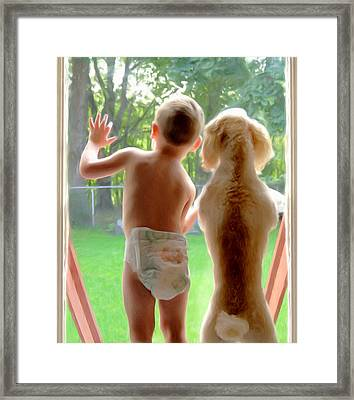 Jack And Buddy Framed Print by Russell Michael