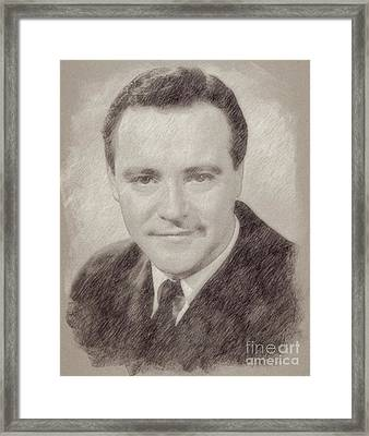 Jack Lemmon Hollywood Actor Framed Print