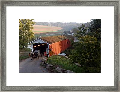 Jacksons Sawmill Covered Bridge Framed Print