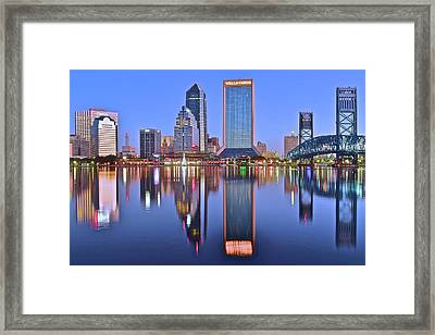 Jacksonville At Dawn Framed Print