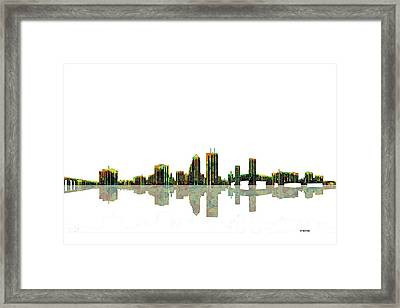 Jacksonville Florida  Skyline Framed Print